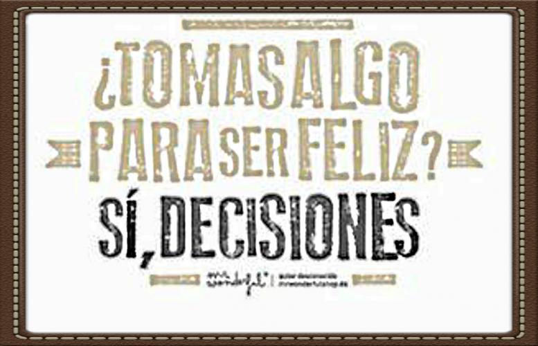 Tomar decisiones reduce el estrés